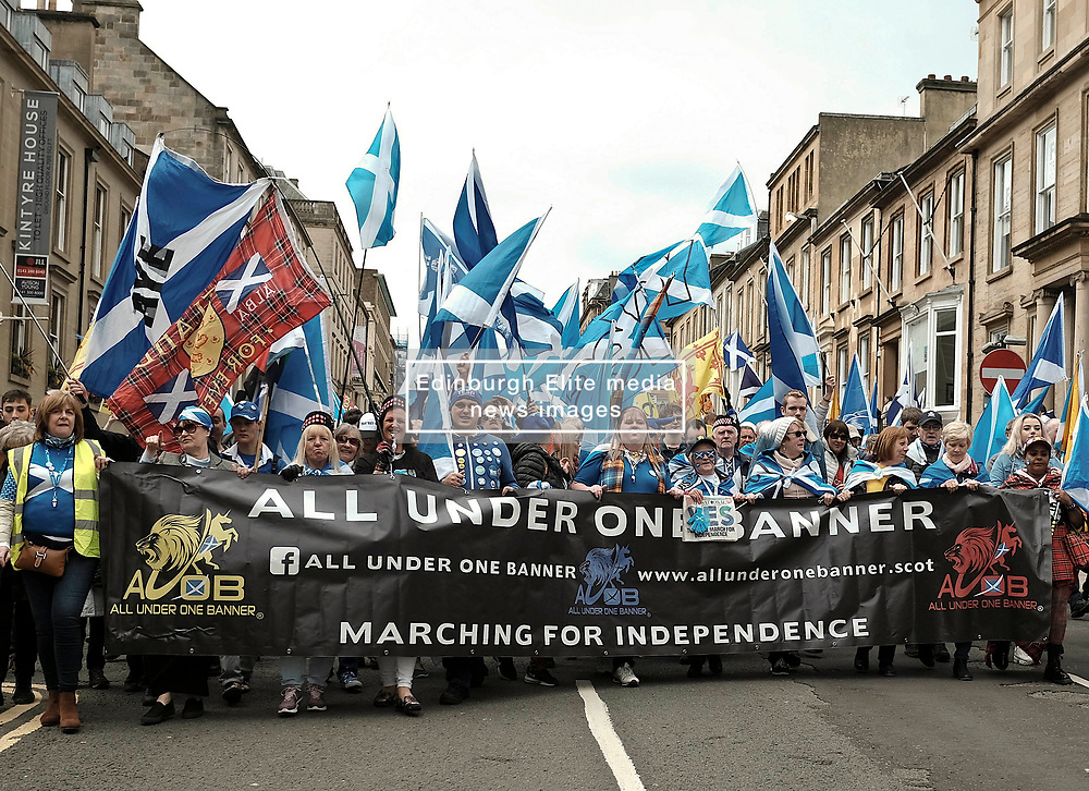 All Under One Banner Independence March, Glasgow, Saturday 4th May 2019<br /> <br /> Pictured: Marchers<br /> <br /> Alex Todd | Edinburgh Elite media