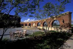 Open air courtyard