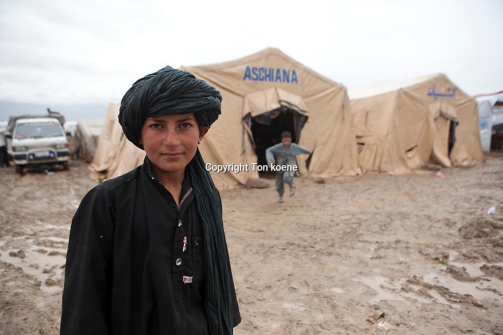tented school in a slum in Kabul
