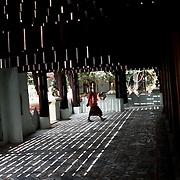 May 14, 2013 - Mandalay, Myanmar: A buddhist monk walks the grounds of a monastery in central Mandalay. (Paulo Nunes dos Santos/Polaris)