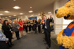 Michael Matheson MSP for Falkirk, at the official opening of the Thomas Cook holiday contact centre at Central Park, Larbert