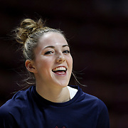 UNCASVILLE, CONNECTICUT- DECEMBER 4: Katie Lou Samuelson #33 of the Connecticut Huskies during warm up before the UConn Huskies Vs Texas Longhorns, NCAA Women's Basketball game in the Jimmy V Classic on December 4th, 2016 at the Mohegan Sun Arena, Uncasville, Connecticut. (Photo by Tim Clayton/Corbis via Getty Images)