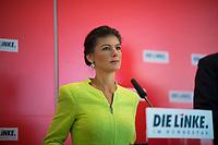 DEU, Deutschland, Germany, Berlin, 12.03.2019: Dr. Sahra Wagenknecht, Vorsitzende der Bundestagsfraktion von DIE LINKE, bei einem Pressestatement vor der Fraktionssitzung von DIE LINKE im Deutschen Bundestag.