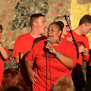 The Total Experience Gospel Choir performs at Bumbershoot 2013 in Seattle, WA USA