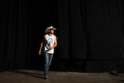 """DALLAS, TX - MARCH 13:  Donald """"Cowboy"""" Cerrone walks on stage during the UFC 185 weigh-ins at the Kay Bailey Hutchison Convention Center on March 13, 2015 in Dallas, Texas. (Photo by Cooper Neill/Zuffa LLC/Zuffa LLC via Getty Images) *** Local Caption *** Donald Cerrone"""