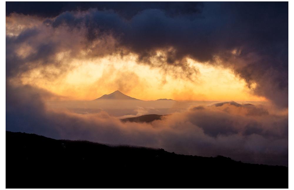 Mt Taranaki from Whakapapa, Tongariro National Park.