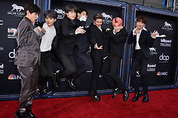 J-Hope, V, Jungkook, Jimin, Suga, Jin, and RM of BTS attend the 2019 Billboard Music Awards at MGM Grand Garden Arena on May 1, 2019 in Las Vegas, Nevada. Photo by Lionel Hahn/ABACAPRESS.COM