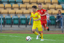 NEWPORT, WALES - Thursday, August 4, 2016: North Wales Academy Boys'  xxxx 19 during the Welsh Football Trust Cymru Cup 2016 at Newport Stadium. (Pic by Paul Greenwood/Propaganda)