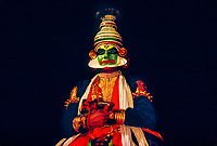 Kathakali dancer, cultural performance, Great Elephant Show, Thuruvananthapuram (Trivandrum), Kerala, India