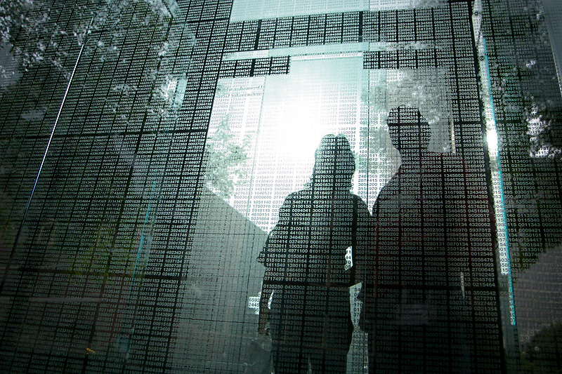 Visitors pay their respects at the Holocaust Memorial in Boston, MA.