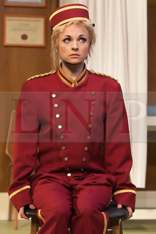 © Licensed to London News Pictures. 09/05/2012. London, England. Georgia Moffett as Geraldine Barclay. What the Butler Saw by Joe Orton and directed by Sean Foley opens at the Vaudeville Theatre, London. Photo credit: Bettina Strenske/LNP
