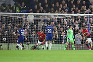 GOAL - 0-1 Manchester United Midfielder Ander Herrera celebrates during the The FA Cup 5th round match between Chelsea and Manchester United at Stamford Bridge, London, England on 18 February 2019.