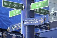 NFL / National Football League<br /> Super Bowl<br /> 01.02.2014<br /> Foto: imago/Digitalsport<br /> NORWAY ONLY<br /> <br /> Super Bowl Boulevard Legend street directions NEWS : Animations Super Bowl 2014 - New York, USA