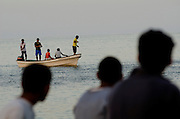 Fishermen at Tiwi village nearSur Oman
