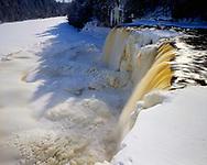 Tahquamenon Falls State Park, Michigan, January, 1989.