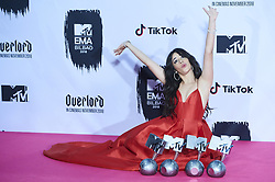 November 4, 2018 - Madrid, Madrid, Spain - Camila Cabello poses with her four awards in the press room during the 25th MTV EMAs 2018 held at Bilbao Exhibition Centre 'BEC' on November 4, 2018 in Madrid, Spain (Credit Image: © Jack Abuin/ZUMA Wire)