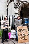 """Anti-fracking protesters gathered outside parliament while MP's debate the future of shale. <br /> The protest comes as a group of MPs also warn that fracking must be stopped in the UK because it is """"incompatible"""" with climate change targets and could increase the risk of environmental damage to public health. Westminster, London, United Kingdom."""
