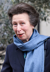 © Licensed to London News Pictures. 12/04/2018. London, UK. PRINCESS ANNE is seen leaning King Edward VII Hospital After visiting Prince Philip, The Duke of Edinburgh, following a hip operation. The Duke underwent an hour-long, planned operation at the private hospital in central London. Photo credit: Ben Cawthra/LNP