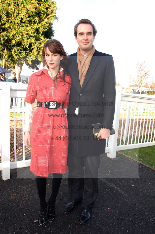 FRITZ VON WESTENHOLZ and CAROLINE SIEBER at the 2007 Hennessy Gold Cup held at Newbury racecourse, Berkshire on 1st December 2007.<br /><br />NON EXCLUSIVE - WORLD RIGHTS