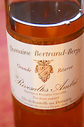 Grande Reserve, Rivesaltes Ambre, Vin Doux Naturel VDN Domaine Bertrand-Berge In Paziols. Fitou. Languedoc. France. Europe. Bottle.