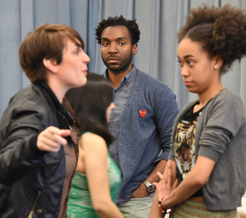 """Photo by Mara Lavitt<br /> The sitzprobe for """"The Chidren,"""" a musical by Phillip Howze, directed by Jessica Holt, part of the Yale School of Drama Carlotta Festival of New Plays 2015."""