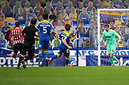 AFC Wimbledon goalkeeper Sam Walker (1) about to clear the ball during the EFL Sky Bet League 1 match between AFC Wimbledon and Sunderland at Plough Lane, London, United Kingdom on 16 January 2021.