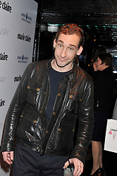 Actor JOSEPH MAWLE at a party to celebrate the launch of the Marie Claire Runway Magazine held at Le Baron a The Embassy, Old Burlington Street, London on 1st February 2012.
