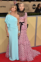 Goldie Hawn and Kate Hudson attend the 24th Annual Screen Actors Guild Awards at the Shrine Auditorium on January 21, 2018 in Los Angeles, California. Photo by Lionel Hahn/ABACAPRESS.COM