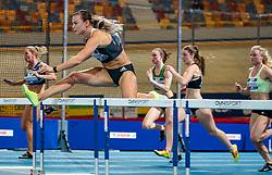 Nadine Visser in action on the 60 meter horden during AA Drink Dutch Athletics Championship Indoor on 21 February 2021 in Apeldoorn.