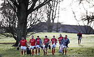 Wales players arrive ahead of the Wales Rugby team training at the Vale Resort, Hensol near Cardiff, South Wales on Tuesday 30th January 2018.  The team are preparing for the the opening Natwest 6 nations match against Scotland this weekend.  pic by Andrew Orchard, Andrew Orchard sports photography.