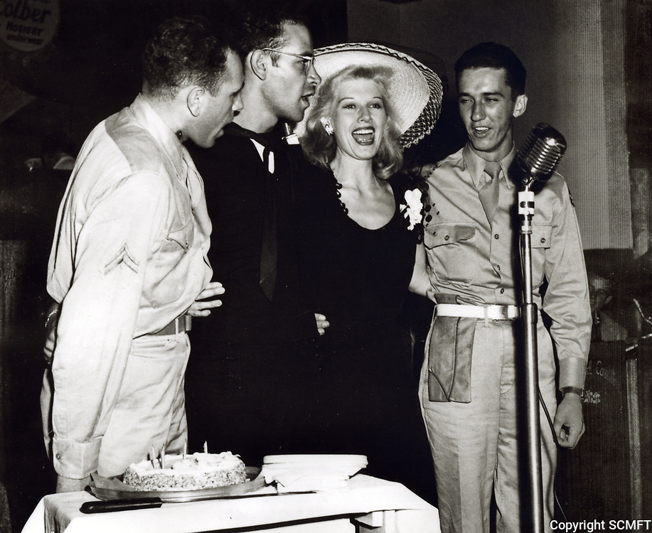 1944 Irene Manning with servicemen at the Hollywood Canteen