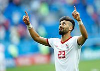 Ramin Rezaeian (Iran) celebration end of the match<br /> Saint Petersburg 15-06-2018 Football FIFA World Cup Russia  2018 <br /> Morocco - Iran / Marocco - Iran <br /> Foto Matteo Ciambelli/Insidefoto