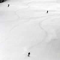 USA, Colorado, Beaver Creek. Skiers on the slopes of the Beaver Creek Ski Resort.