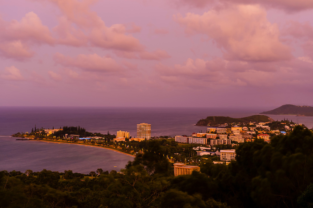 Overview of Noumea (Anse Vata in foreground and Baie des Citrons in back), Noumea, Grand Terre, New Caledonia