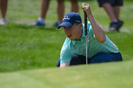 Matt Fitzpatrick (ENG) lines up his putt on 17 during 2nd round of the World Golf Championships - Bridgestone Invitational, at the Firestone Country Club, Akron, Ohio. 8/3/2018.<br /> Picture: Golffile | Ken Murray<br /> <br /> <br /> All photo usage must carry mandatory copyright credit (© Golffile | Ken Murray)