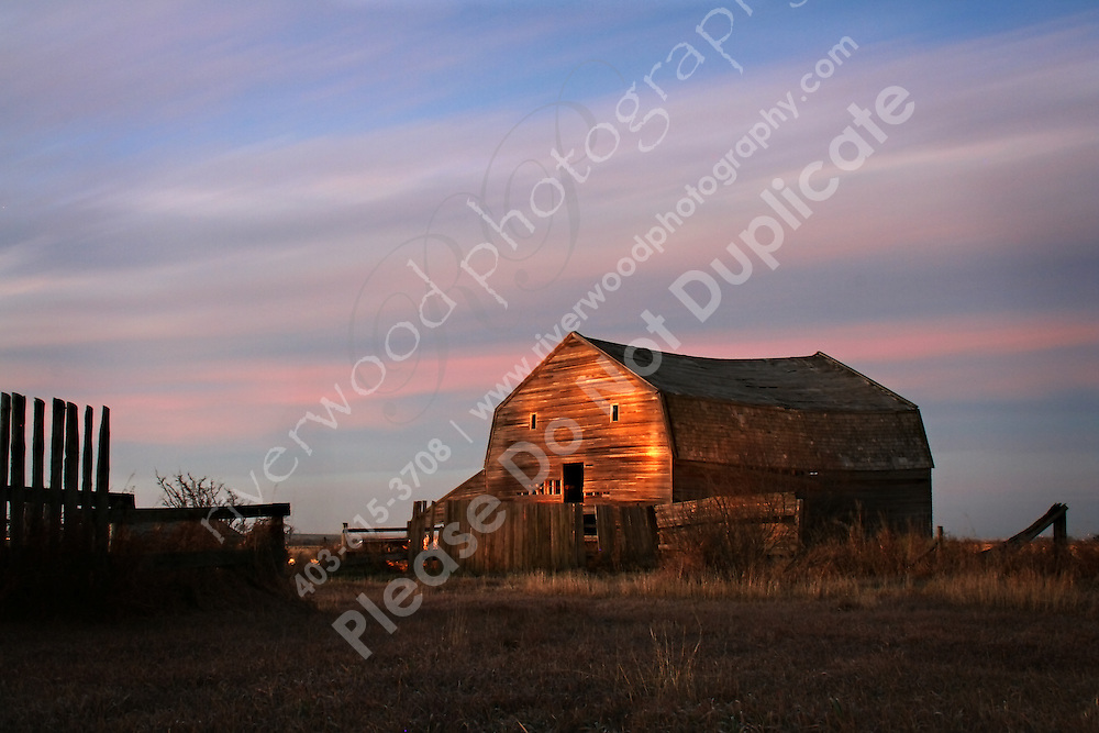 Early morning, long exposure shot of a vintage barn in the country East of Calgary, near Carseland, AB...©2007, Sean Phillips.http://www.Sean-Phillips.com