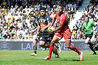 Jimmy YOBO - 25.04.2015 - La Rochelle / Toulon - 23eme journee de Top 14<br />Photo : Caroline Blumberg / Icon Sport