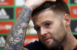 Northern Ireland's Ollie Norwood during the press conference at Windsor Park, Belfast.