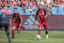 August 12, 2018 - Toronto, Ontario, Canada - MLS Game at BMO Field 2-3 New York City. IN PICTURE: VICTOR VAZQUEZ,SEBASTIAN GIOVINCO (Credit Image: © Angel Marchini via ZUMA Wire)