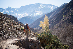 5 January 2018, Azzaden Valley, Morocco: The village of Azrafsan. Originally from the village of Armed, at an altitude of some 1,900 meters, near Mount Toubkal, Ibrahim is a 39-year-old mountain guide. He's been working as a guide for international guests for more than 16 years. He speaks Berber, two Arabics, English, French