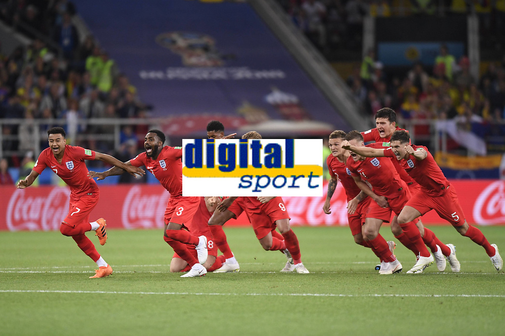 07 JESSE LINGARD (ANG) - 03 DANNY ROSE (ANG) - 09 HARRY KANE (ANG) - 12 KIERAN TRIPPIER (ANG) - 05 JOHN STONES (ANG) - 06 HARRY MAGUIRE (ANG) - JOIE FOOTBALL : Colombie vs Angleterre - Coupe du Monde 2018 - 1/8 de Finale - 03/07/2018 AnthonyBIBARD/FEP/Panoramic PUBLICATIONxNOTxINxFRAxITAxBEL