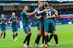 15-05-2019 NED: De Graafschap - Ajax, Doetinchem<br /> Round 34 / It wasn't really exciting anymore, but after the match against De Graafschap (1-4) it is official: Ajax is champion of the Netherlands / Lasse Schone #20 of Ajax score 1-0, Dusan Tadic #10 of Ajax, Matthijs de Ligt #4 of Ajax, Frenkie de Jong #21 of Ajax