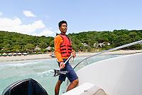 Preparing to set anchor