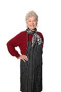 Mature women wearing apron