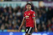 Jesse Lingard of Manchester United looks on, EFL Carabao Cup 4th round match, Swansea city v Manchester Utd at the Liberty Stadium in Swansea, South Wales on Tuesday 24th October 2017.<br /> pic by  Andrew Orchard, Andrew Orchard sports photography.