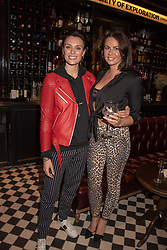 Wallis Day and guest at the launch of Mr Fogg's Society of Exploration, 1a Bedford Street, London,  England. 13 September 2018.
