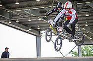 #131 (GAMET Alexandre) FRA at Round 6 of the 2019 UCI BMX Supercross World Cup in Saint-Quentin-En-Yvelines, France