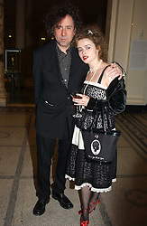 Actress HELENA BONHAM-CARTER and her husband TIM BURTON at a party to celebrate the publication of  'Put On Your Pearl Girls!' by Lulu Guinness held at the V&A museum, London on 5th May 2005.<br /><br />NON EXCLUSIVE - WORLD RIGHTS