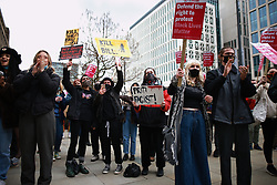 "© Licensed to London News Pictures. 27/03/2021. Manchester, UK. Hundreds at a "" Kill the Bill "" and Reclaim the Streets demonstrations in St Peter's Square in Manchester City Centre, in opposition to the Police, Crime, Sentencing and Courts Bill 2021 that is currently before Parliament and after the death of Sarah Everard in London . Photo credit: Joel Goodman/LNP"
