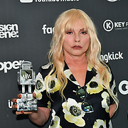 Debbie Harry receive award at AIM Independent Music Awards at the Roundhouse on 3 September 2019, Camden Town, London, UK.